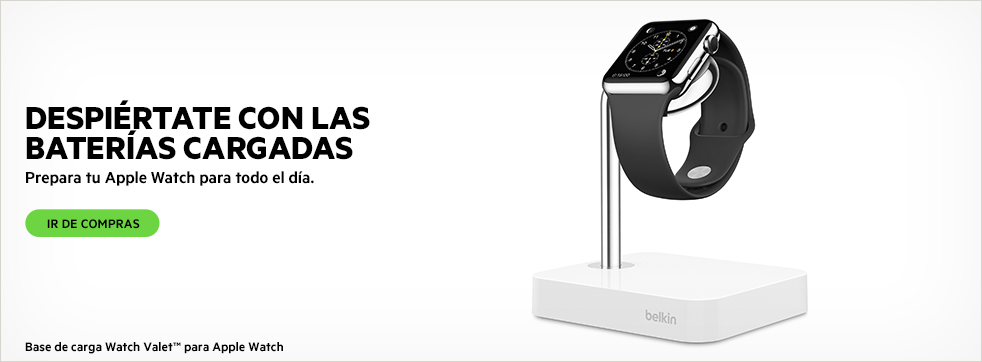 DESPI�RTATE CON LAS BATER�AS CARGADAS. Base de carga Watch Valet para Apple Watch. IR DE COMPRAS.