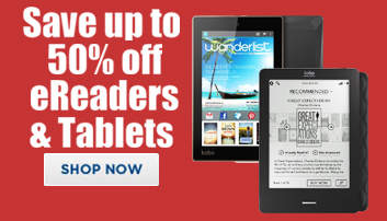 Save up to 50% off eReaders & Tablets
